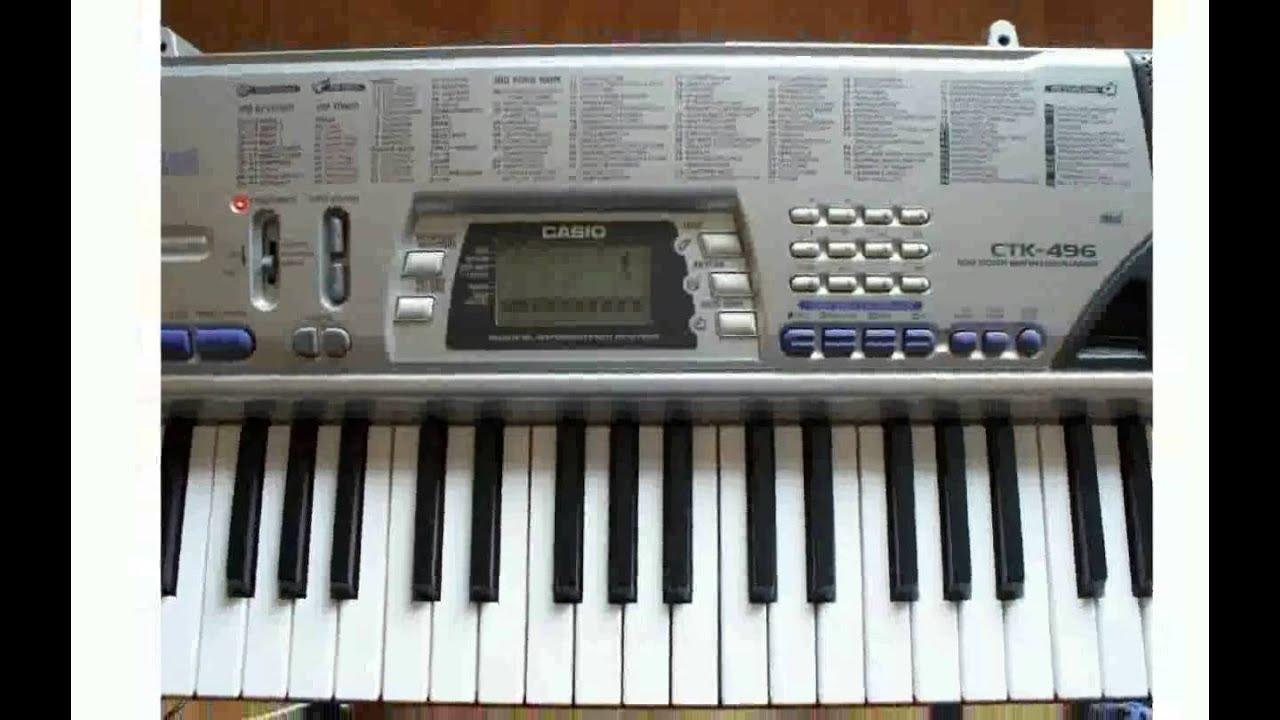 Инструкция синтезатор casio стк 496