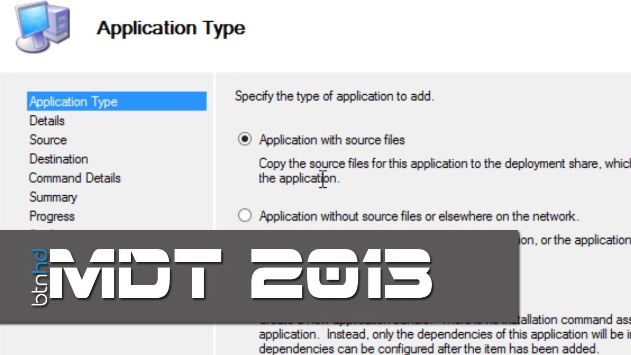 Using Application Bundles in MDT 2013!