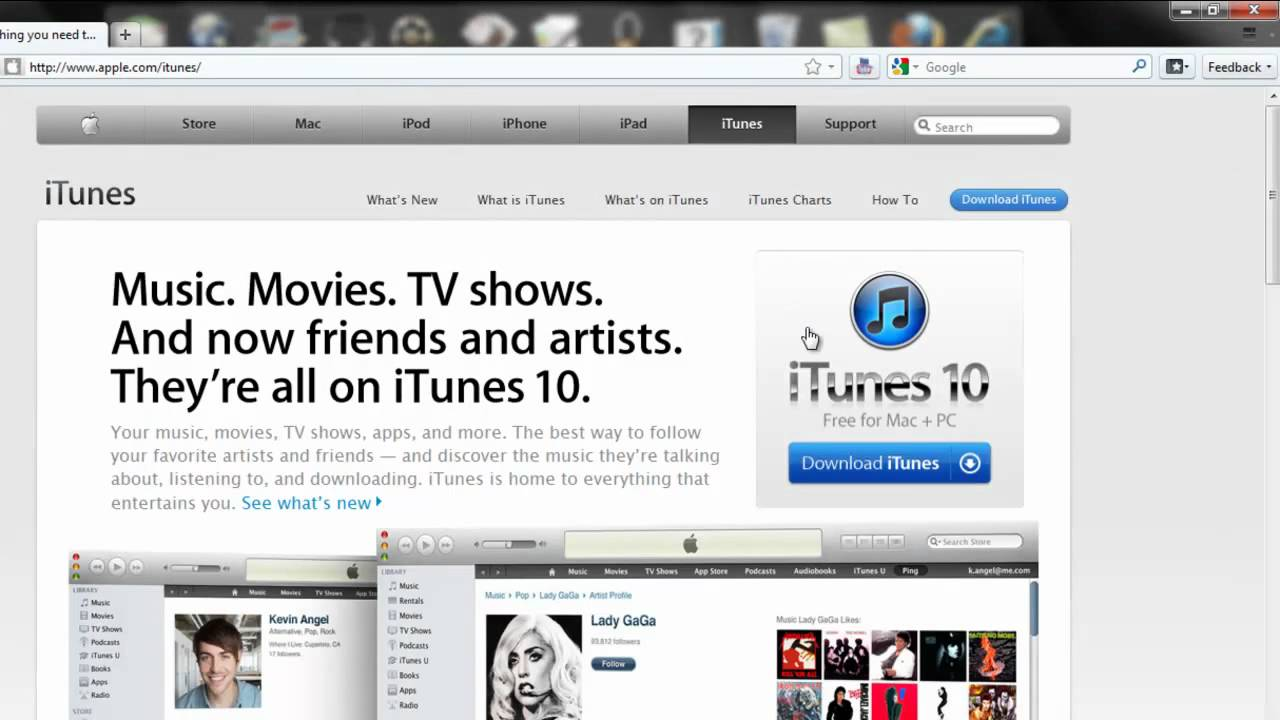 How to get Itunes 10 for 32 bit and 64 bit