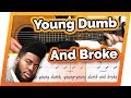 Young Dumb and Broke - Khalid - Free Beginner Guitar Lessons | Easy Chords