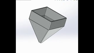 Design Rice Mill Hopper By, SolidWorks.