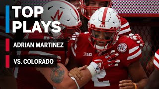 Top Plays: Adrian Martinez vs. Colorado Buffaloes Nebraska Week 2