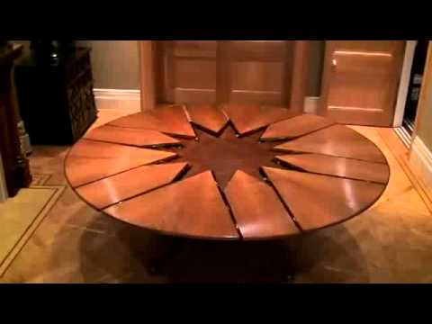 Round Pedestal Kitchen Table Granite New Technology Expandable Dining - Youtube