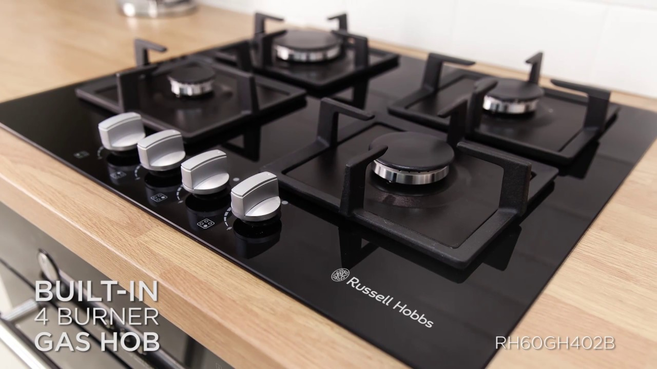 russell hobbs 4 burner hob rh60gh402b product video youtube. Black Bedroom Furniture Sets. Home Design Ideas