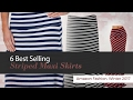 6 Best Selling Striped Maxi Skirts Amazon Fashion, Winter 2017