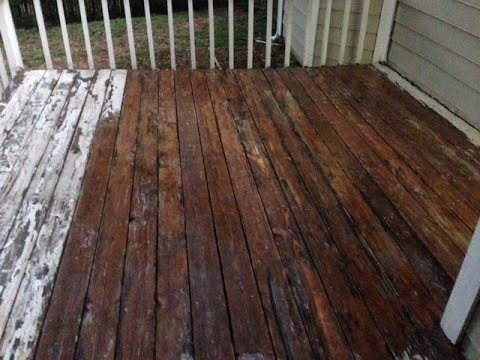 How To Remove Deck Paint To Re Stain Your Deck Youtube