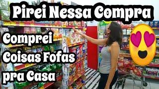 MAIOR COMPRA DO MÊS DE SUPERMERCADO // COMPREI COISAS FOFAS PRA CASA // GALEGA BARREIROS