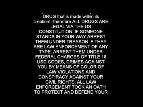 Drugs are actually legal in United States