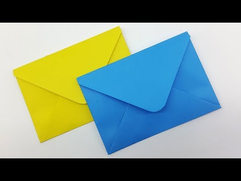 How to make Paper Envelope | Easy Origami Envelope Tutorial | Envelope making with paper