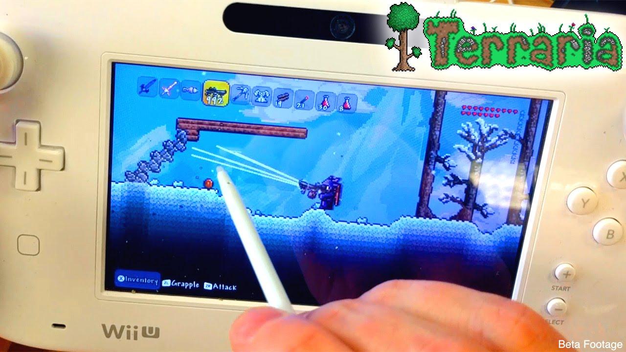 Terraria Wii U Minutes With GamePad Mode YouTube - Minecraft terraria spielen