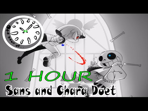 Stronger than you - Sans and Chara Duet (Undertale parody)  [w/ Lyrics] 1 hour | One Hour of...
