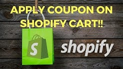 2018: How to apply Coupon Code on Shopify Cart