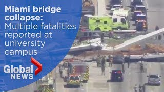 Bridge collapses at Florida university, multiple fatalities reported