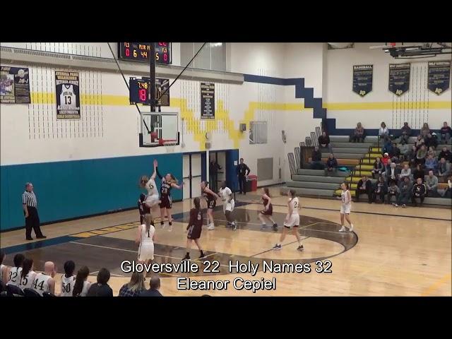 Game Highlights Girls' Varsity: Gloversville 44 vs Holy Names 55 (F)