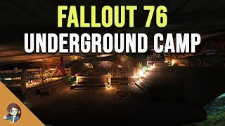 Fallout 76: Underground Hidden Base CAMP - Two Versions | Build and Tour