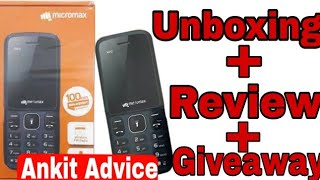 Micromax X412 Unboxing Review Giveaway best bujet phone at ruppes 750 Ankit Advice