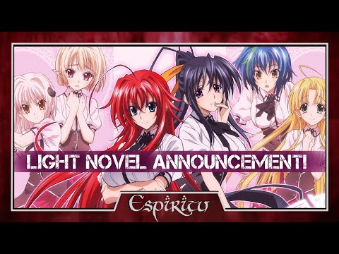 High School DxD English Light Novel Announcement!