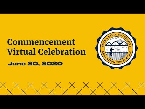 Buena Vista University Virtual Commencement 2020
