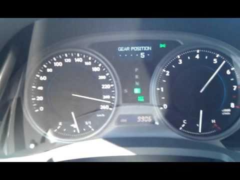 Lexus IS 250 top speed 260km/h