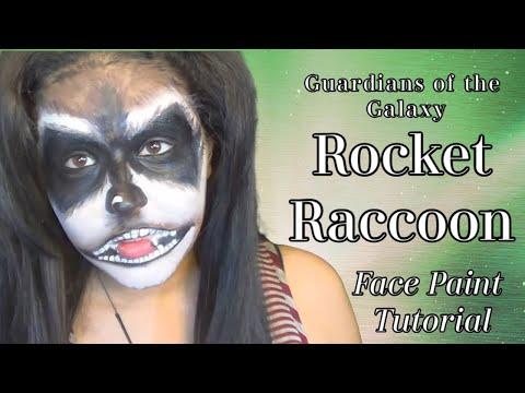 Guardians of the Galaxy: Rocket Raccoon Makeup & Face paint Cosplay Tutorial