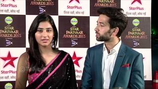 Aditya and Pankhuri aka Nakkul and Disha walk the red carpet of Star Parivaar Awards 2015