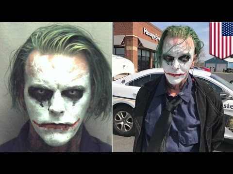 Joker gets arrested: Joker cosplayer gets charged by Virginia cops for wearing a mask - TomoNews