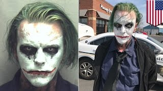 Joker gets arrested  Joker cosplayer gets charged by Virginia cops for wearing a mask   TomoNews
