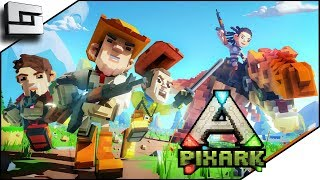 PIXARK! Ark Meets Minecraft! Pooping Evolved Server! Starter House and Taming!