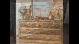 How To Make Diy French Rustic Furniture (painting, Sanding)