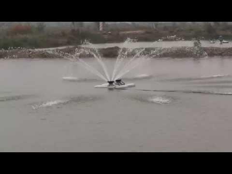 AQUASPURT innovative mobile pond aeration for fish farming