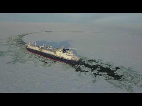 대우조선해양 '야말' LNG운반선, 북극해 시운전