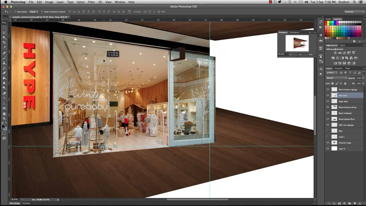 Part 4 Modifying The Shop Facade Photoshop For