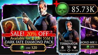 I SPENT 85,000 SOULS!   Dąrk Fate Diamond Pack Opening!   Best Pack?!   MK Mobile   Terminator