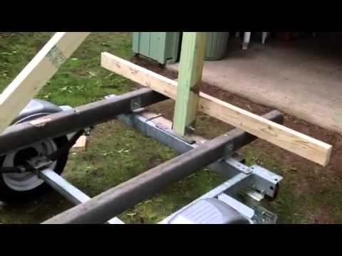 how to build a kayak trailer from a boat trailer