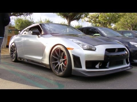 2010 Nissan GTR with Veilside front aero, Seibon GT CF ...