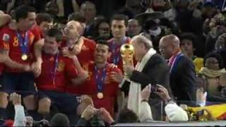 Spain Wins World Cup 2010 Trophy Hand Over