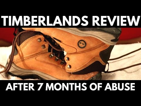 Timberlands after 7 months of wear - A product review