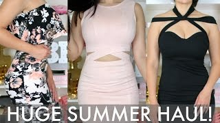 HUGE SUMMER CLOTHING HAUL + TRY ONS! | LULUS, HMS, BOOHOO, FOREVER21 + MORE!