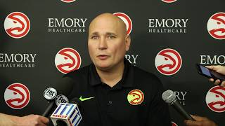 Travis Schlenk Addresses The Media After Hawks Part Ways With Coach Budenholzer