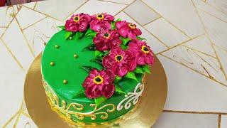 Бисквитный торт с очень красивым новым цветком