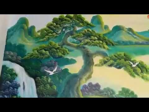 Vẽ tranh tường phong cảnh thuận buồm xuôi gió tại Thanh Trì, Hà Nội – Vẽ tranh nghệ thuật cực đẹp LH