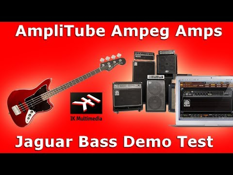 AmpliTube Ampeg Amps / Jaguar Bass Demo Test