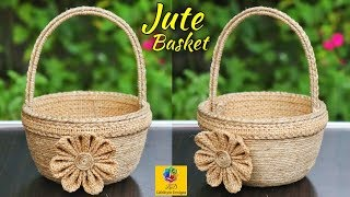 Flower Basket With Jute rope and Plastic Bowl | Best out of waste Plastic Bowl | Jute Art and Craft