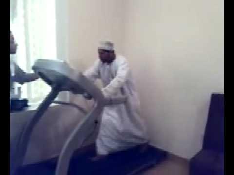 Arab on Treadmill