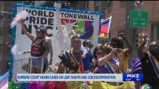 Activists rally at Supreme Court on LGBTQ rights and job discrimination, From YouTubeVideos