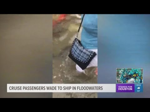 Galveston cruise ship passengers left stranded in floodwaters