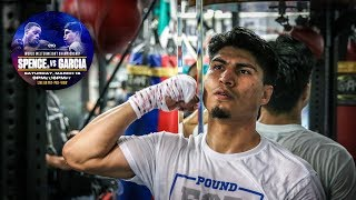 Mikey Garcia in the gym preparing for Errol Spence Jr.