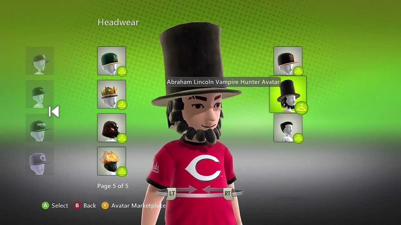 Free Abraham Lincoln Hat And Beard Avatar Xbox 360 Youtube