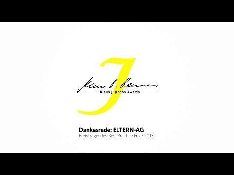 Klaus J. Jacobs Awards 2013 - Dankesrede Eltern-AG