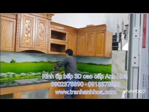 Kính ốp bếp - Kính ốp bếp 3D cao cấp giá cạnh tranh miễn phí vận chuyển lắp đặt - 0918378890 - www.tranhanhhoa.com